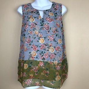 CAbi • Floral Penelope Blouse #5354  NWOT Size M